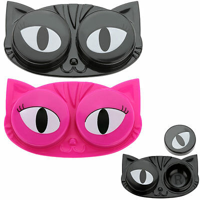Cat Eyes Contact Lens Case for storing &/or cleaning hard or soft lenses