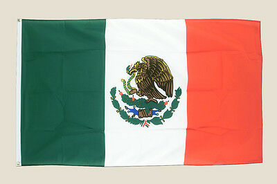 Mexico 3x5 Flag Green White Red Polyester 2 Brass Grommets Mexican Country New