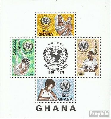 Ghana block44 (complete.issue.) unmounted mint / never hinged 1971 UNICEF