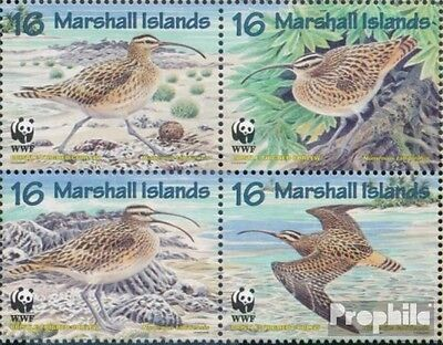 Marshall-Islands 830-833 block of four (complete.issue.) fine used / cancelled 1