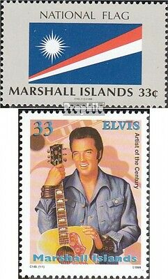 Marshall-Islands 1148,1171 (complete.issue.) fine used / cancelled 1999 Staatsfl