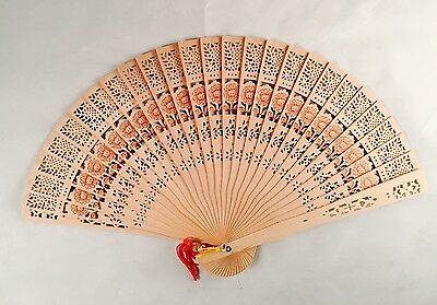 5x LOT Wedding Shower Favor Chinese Bridal Party Wood Folding Hand Summer Fan
