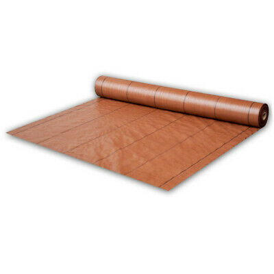 110m² Brown Ground Fabric Weed Foil 70g/qm Mulch Foil Weed Protection Film