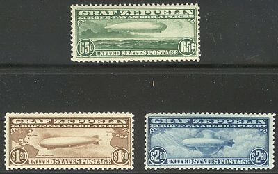 U.S. #C13-15 Mint NH Set - 1930 Graf Zeppelins