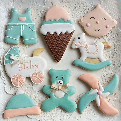 Baby Shower Stainless Steel Cookie Cutter Biscuit Cake Decorating Baking Mould