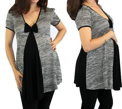 Gray Black Maternity Top Pregnancy Wear Womens Pregnant Clothes