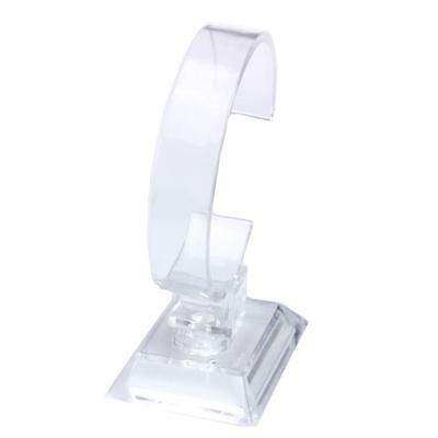 New 6pcs Clear Jewelry Watch Display Stand Holder Rack Shop Retail Showcase