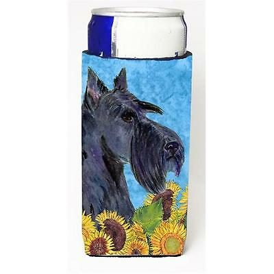 Scottish Terrier In Summer Flowers Michelob Ultra bottle sleeves For Slim Can...