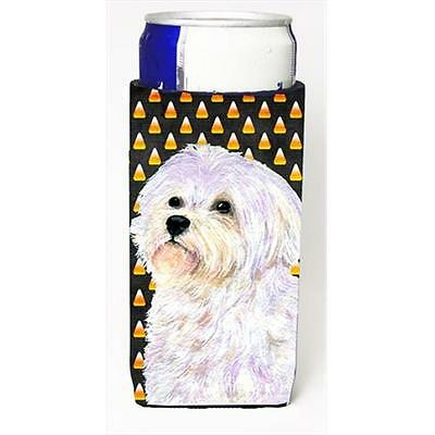 Maltese Candy Corn Halloween Portrait Michelob Ultra bottle sleeves For Slim ...