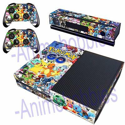 Pokemon Go Pikachu Charizard Skin Decals Stickers for Xbox One Kinect Controller