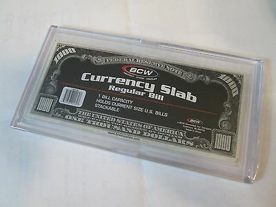 One BCW Deluxe Currency Protector (Slab) for Regular Size Bills