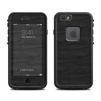 Skin for LifeProof FRE iPhone 6/6S - Black Woodgrain - Sticker Decal