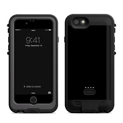 Skin for LifeProof FRE Power iPhone 6/6S - Solid Black - Sticker Decal