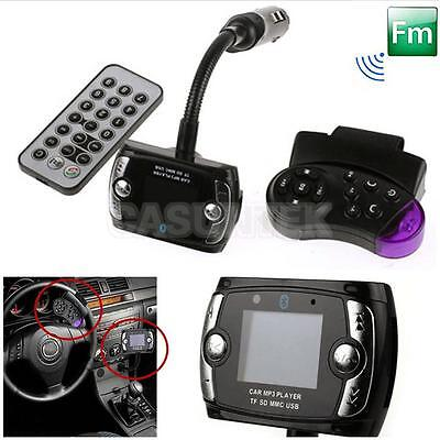 Car FM Transmitter Bluetooth Hands-free LCD MP3 Player Radio Adapter Kit