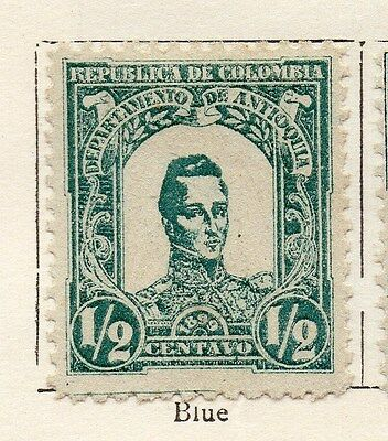 Antioquia 1899 Early Issue Fine Mint Hinged 1/2c. 123400