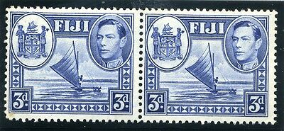 FIJI;  1938 early GVI issue fine Mint hinged 3d. PAIR