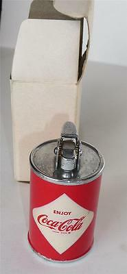 1960 Enjoy Coca-Coca, Diamond Logo, Can Cigarette Lighter. Mint in Box