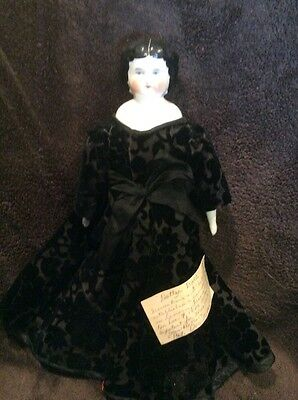 Germany antique, brunette DOTTER china doll: size 2 Pat. Dec 7 1880