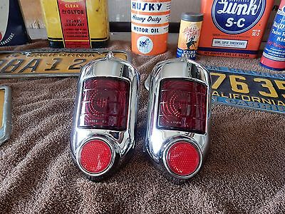 1951 1952  Chevrolet Tail Light Assemblies  All Models Deluxe Styleline 1 Pair