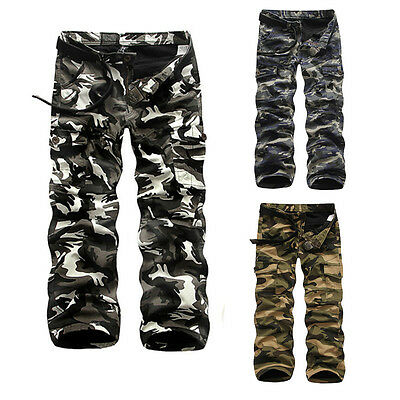 Mens Thicken Winter Warm Military Army Cargo Camo Combat Casual Trousers Pants