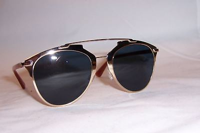 22326812dc NEW CHRISTIAN DIOR Reflected s Tuz-Ku Gold blue Sunglasses Authentic ...