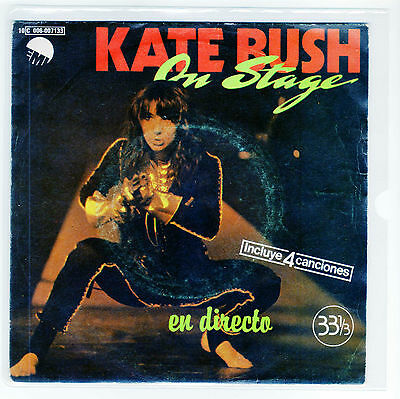 """KATE BUSH 7 """" Only Spanish Maxi ON STAGE 4 tracks  1979  /16"""