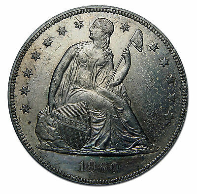 1860O Seated Liberty Silver Dollar $1 Coin Lot # MZ 2353
