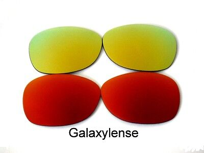 1b5a0272140 Replacement Lenses For Ray Ban RB2132 New Wayfarer Sunglasses Red Gold 55mm