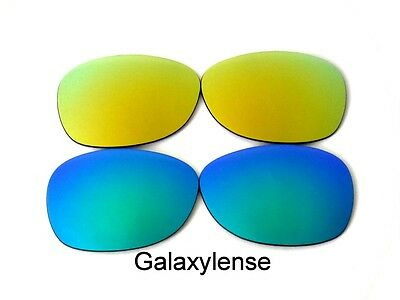 30dd260d4d920 Replacement Lenses For Ray Ban RB2132 New Wayfarer Sunglasses Green Gold  55mm