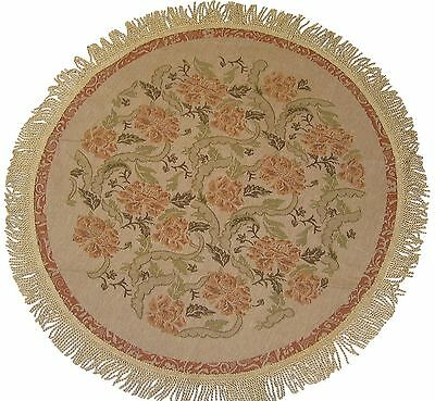 DaDa Bedding TC-10072 Floral Woven Round Tablecloth 36-Inch Floral