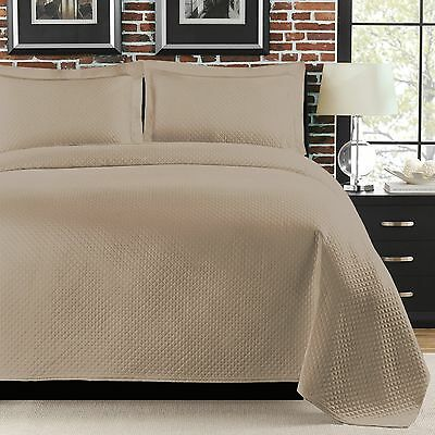 LaMont Home Diamante Coverlet Twin Taupe