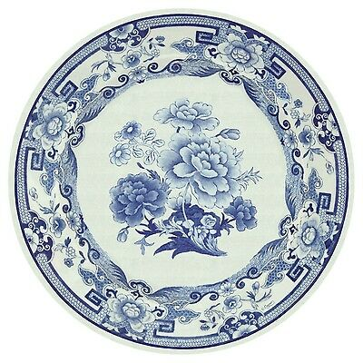 Caspari Entertaining with Dinner Plates Blue and White 8-Pack