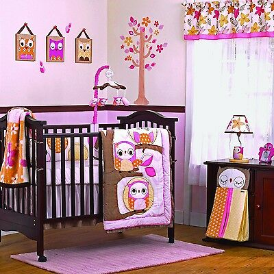 Cocalo Bedding Set in The Woods Pink/Brown 1-Pack 8-Piece