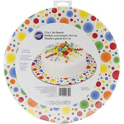 Wilton 2104-0359 Circles Cake Stand/Boards 12-Inch
