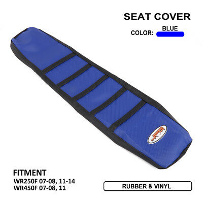 Ribbed Gripper Soft Seat Cover For Yamaha WR250F 07-08 11-14 WR450F 07-08 2011