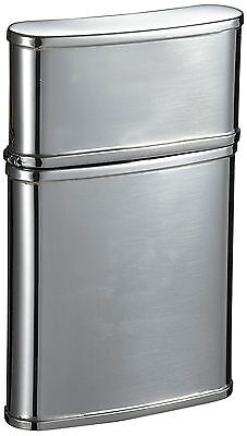 "Visol ""Flip Top"" Stainless Steel Hip Flask Mirror Finish 2.5-Ounce Chrome"