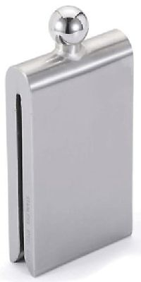 Visol Magnet Contemporary Satin Stainless Steel Liquor Flask 4.5-Ounce Silver