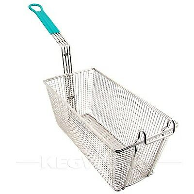 Winco FB-30 Fry Basket with Green Handle Medium