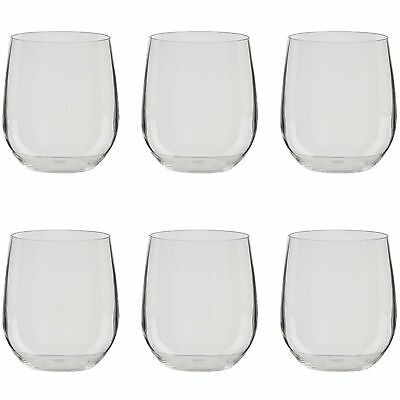 Zak Designs Adele Stemless Wine Glass Small Clear Set of 6