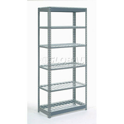 "Heavy Duty Shelving 36""W x 18""D x 72""H With 6 Shelves, Wire Deck"