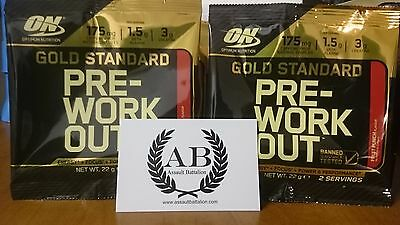 OPTIMUM NUTRITION GOLD Standard pre-workout 2/4/8/30 servings flavour and size
