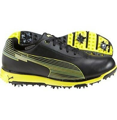 Puma Faas Trac Evospeed Men's Golf Shoes Black Rrp £100 Size 7 Uk
