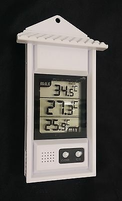 Max Min Thermometer Digital- Garden Greenhouse Indoor Outdoor Wall