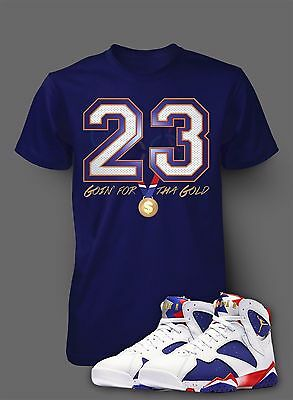 83d596c7 Pro Club Custom T Shirt To Match Air Jordan 7 Olympic Alternate Shoe  Graphic Tee