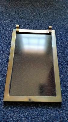 FURNACE FIRE DOOR HEAVY DUTY BRASS w GLASS /SHIP / SMOKEHOUSE/ PIZZA OVEN / KILN