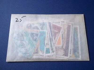 Sierra Leone stamp packet. 25 stamps. Unopened.