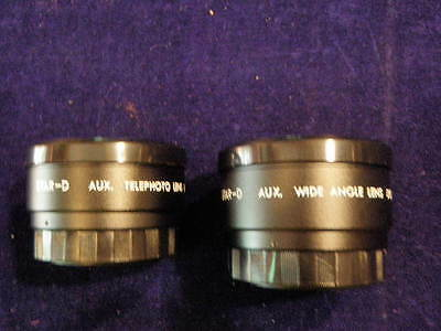 MINT Telephoto & Wide Angle Auxiliary Lens Set w/ Case Canon Sure Shot AF35M A14