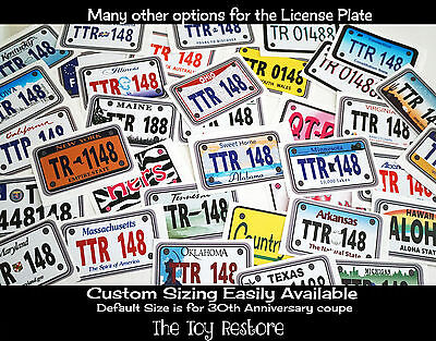 Custom License Number Vanity Decal Stickers Plate for kids Toys Car US STATE