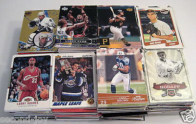1900s-2000s Lot of 850 Baseball Basketball Football Hockey Mixed Cards