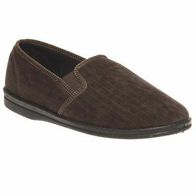 Mens Grosby Anton Comfortable Khaki Brown Slippers Moccasins Shoes Size 6-12